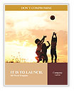 Kids playing with a ball at sunset Word Templates