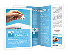 A piece of the puzzle in hand Brochure Templates