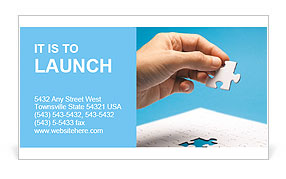 A piece of the puzzle in hand Business Card Template