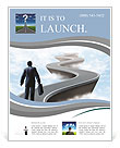 Businessman climbs up the mountain the hard way Flyer Template