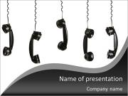 Old-fashioned telephone handset PowerPoint Templates
