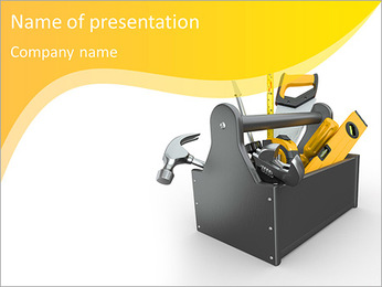 Toolbox with tools PowerPoint Template
