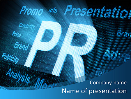 public relations and abbreviations powerpoint template backgrounds