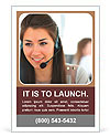 Beautiful girl smiling, working in a support service Ad Templates