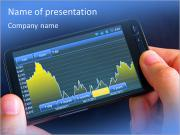 Fluctuation graphs in modern mobile phone PowerPoint Templates