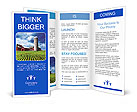 Modern farm, green field Brochure Templates