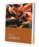 People carry food with chopsticks Presentation Folder