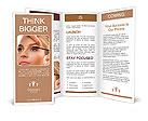 Modern make-up for women Brochure Templates