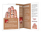 Fingers with funny pictures of family Brochure Templates
