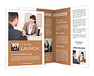 Business girl enters into an agreement with a partner Brochure Templates