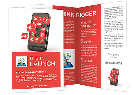 Mobile Phone Software In Puzzles Brochure Template  Design Id