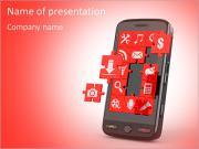 Мобильный телефон программное обеспечение в пазлы Шаблоны презентаций PowerPoint