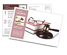 Books and glasses Postcard Template