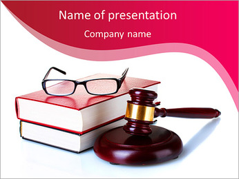 Books and glasses PowerPoint Template