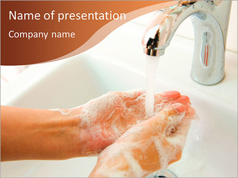 Hand washing as an integral part of the health PowerPoint Template
