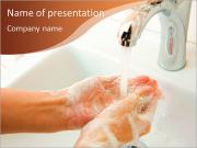 Hand washing as an integral part of the health PowerPoint Templates