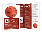 Basketball ball on a white background Brochure Template