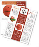 Basketball ball on a white background Newsletter Templates
