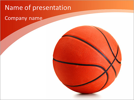 Basketball Ball On A White Background Powerpoint Template