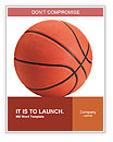 Basketball ball on a white background Word Templates