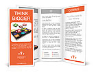 Puzzles on the tablet Brochure Templates