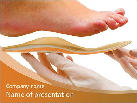 Orthopedic powerpoint template smiletemplates orthopedic insole a researcher powerpoint templates toneelgroepblik Choice Image