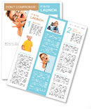 Picture a little boy with glasses Newsletter Template