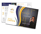 The concept of customer service and its derivatives Postcard Template