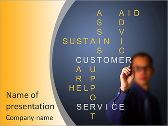 The concept of customer service and its derivatives PowerPoint Template
