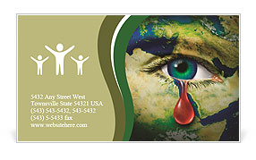 The eye of compassion Business Card Template
