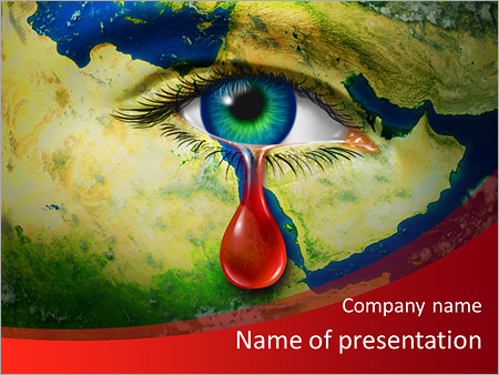 Violence powerpoint template smiletemplates the eye of compassion powerpoint templates toneelgroepblik Gallery