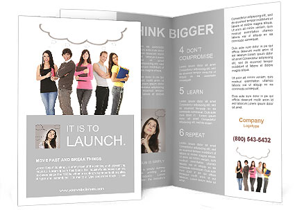 Thoughts students brochure template design id 0000008641 for Student brochure template