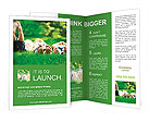 Feet of little children Brochure Template