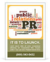 Words Public relations Ad Template