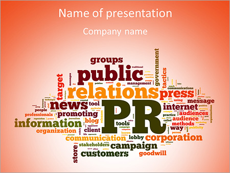 words public relations powerpoint template backgrounds google