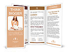Young mother with a child meditates Brochure Templates