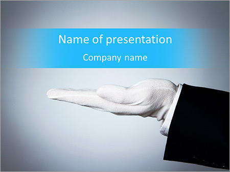 elegant hand is a presentation powerpoint template backgrounds