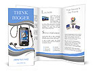 Mobile phone plays music Brochure Templates