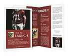Baseball on red black background Brochure Templates