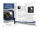 Planet Earth at Night Brochure Templates