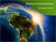 Gece Planet Earth PowerPoint sunum şablonları