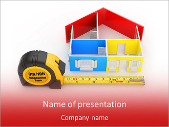 Measure and house PowerPoint Template