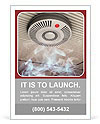 Smoke and fire detector Ad Template