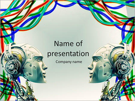 Cyber powerpoint template smiletemplates robot powerpoint template toneelgroepblik Gallery