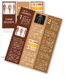 Human muscles on a mannequin Newsletter Template
