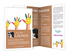 Hand painted with smiles Brochure Templates
