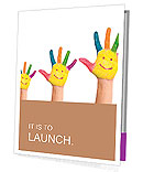 Hand painted with smiles Presentation Folder
