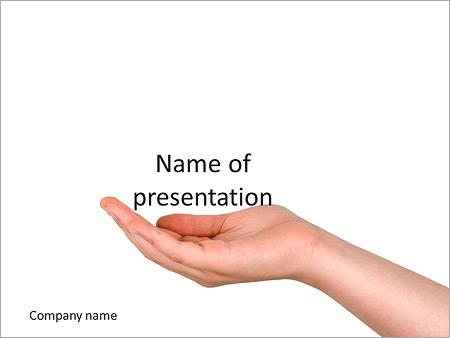 la mano extendida sobre un fondo blanco plantillas de