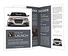 Silver car on a white background Brochure Templates