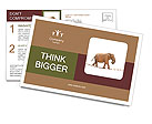 Elephant walking on a rope Postcard Templates